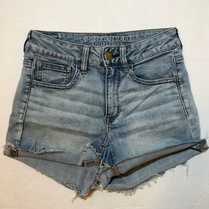 American eagle outfitters hi rise shortie stretch